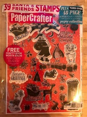 PAPERCRAFTER  #127 With 39 SANTA & FRIENDS STAMPS NEW AND IN SEALED PACKAGING