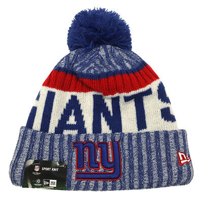 New Era New York Giants Knit Beanie Cap Hat NFL 2017 On Field Sideline  11460388 6eebd2509852