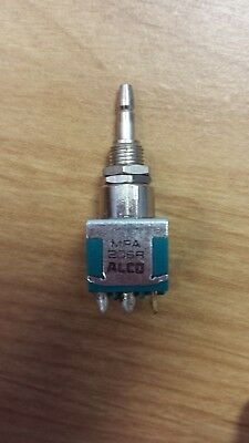ALCOSWITCH TE CONNECTIVITY MPA206R Pushbutton Switch Momentary Spring DPDT