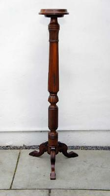 Tall Victorian Mahogany  torchere, plant stand,  very clean