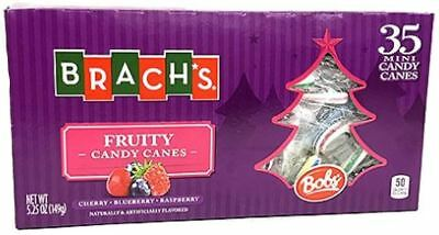 Brach's Bobs Fruity Mini Candy Canes, Cherry, Blueberry and Raspberry, 35 Count