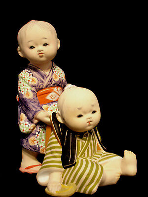 "10 "" Japanese Showa Period Hakata Doll"
