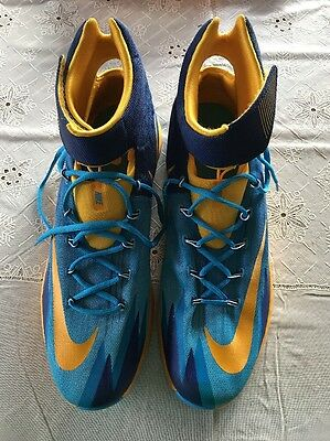 6c6546a00949 Nike Zoom Hyper Rev 2013 Basketball Shoes Mens Size 18 Blue yellow  630913-400