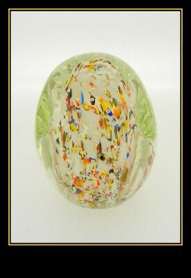 Vintage Decorative Hand Blown Glass Paperweight