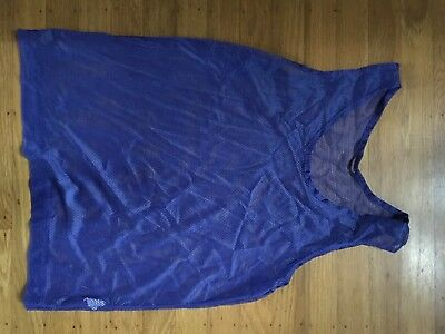 Blue Mesh Sports Soccer Practice Jersey Lot Of 12 One Size Unisex Youth