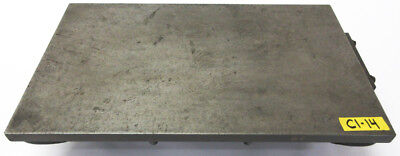 "24"" x 14"" Cast Iron Surface Fixture Layout Plate for Metalworking"