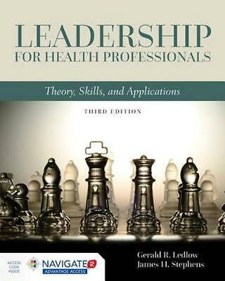 Leadership for Health Professionals by Gerald R. Ledlow Hardcover Book Free Ship