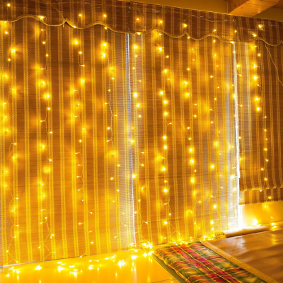LED String Lights Curtain 300LEDS 8 Modes Indoor Outdoor Window Curtains NEW US