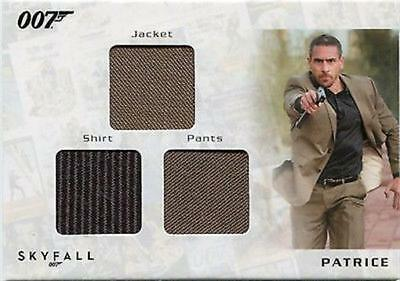 2013 James Bond Autos & Relics STC1 Triple Patrice Relic card 117/200