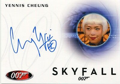 2014 James Bond Archives A247 Yennis Cheung Autograph