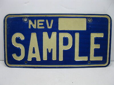 Nevada SAMPLE License Plate Vintage