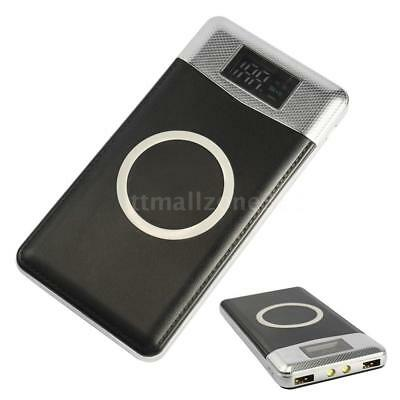 For iPhone Samsung Qi Wireless Charger 10000mAh Power Bank Backup Battery J0Q4
