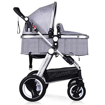 Infant Baby Stroller for Newborn and Toddler - Belecoo Linen Grey
