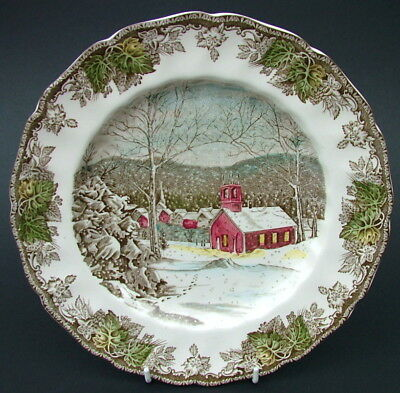 TWO Johnson Brothers Friendly Village UK Made Dinner Plates 25cm The Schoolhouse
