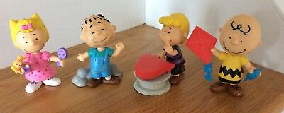 4 Just Play Charlie Brown Peanuts Collector's Figures