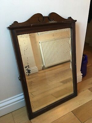 Antique Victorian Mahogany Mirror Large Dressing Table Swing Mirror /No Stand