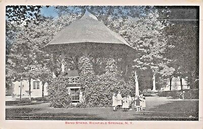 Richfield Springs New York~Band Stand Postcard