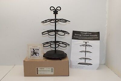 """Longaberger Wrought Iron """"Beverage Carousel"""" for your K Cups, NEW!"""