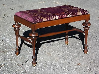 Antique Norquist French Provincial Piano Bench Vanity Sewing Stool Footstool NY