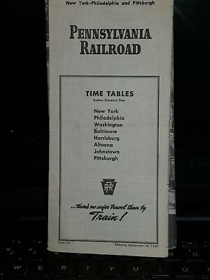 pennsylvania railroad timetables 1945 and 1947