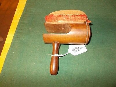 1800S Pin Cushion On Wooden Clamp To Clamp Onto A Chair Or Table Velvet Cushion