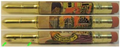 RESTORED by Ragan - Vintage Bullet Pencil - New Orleans, Brulator Ct LA  EF-1022