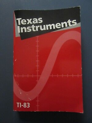 TI-83 graphing calculator 1996 guidebook red cover Texas Instruments