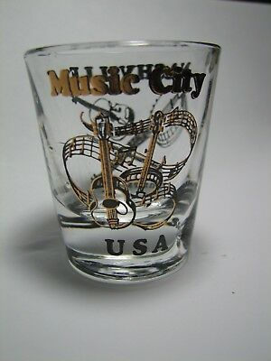 Two Shot Glasses from Music Cities: Nashville & New Orleans - Clean, never used