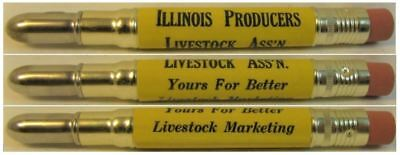 RESTORED by Ragan - Vintage Bullet Pencil - Illinois Producers Livestock EF1085