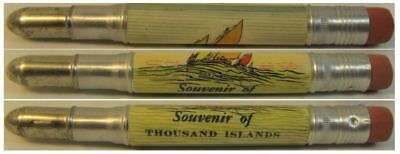 RESTORED by Ragan - Vintage Bullet Pencil - Thousand Islands - Sailboats CE1089