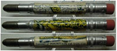 RESTORED by Ragan - Vintage Bullet Pencil - Fountain of Youth, Florida EF-1107