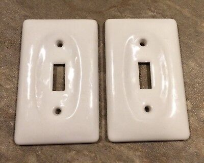 Biscuit Porcelain Switchplate Ceramic Wall Plate Outlet Light Switch