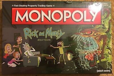BRAND NEW SEALED Monopoly Rick & Morty Edition Adult Swim