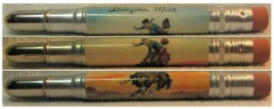 RESTORED by Ragan - Vintage Bullet Pencil - Livingston, Montana EF-1168