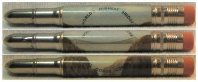 RESTORED by Ragan - Vintage Bullet Pencil - World's Highest Bridge Colorado 1170