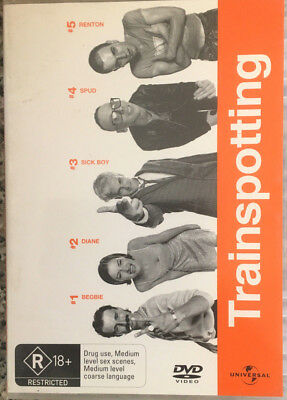 "TRAINSPOTTING ""Hilarious, Sick, Intense, Controversial, Compelling"" DVD"