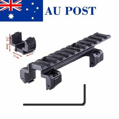 Long 120mm Tactical Metal Scope 20mm Rail Mount Base For G3/MP5 Hunting Airsoft