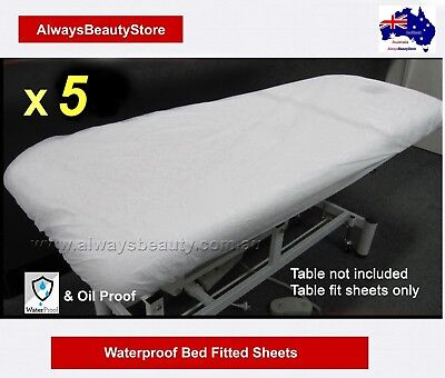 5pc Disposable Waterproof Fitted Sheet Massage Table Beauty Bed