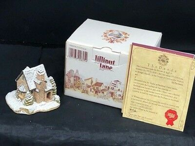 liilput lane  chestnut cottage figure with orig box and deed