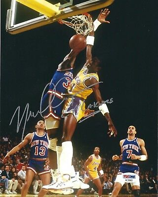 6f58e072def Michael Cooper Signed Los Angeles Lakers 8x10 Photo  5x NBA Champ PSA  AE20802
