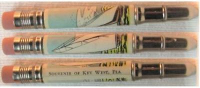 RESTORED by Ragan - Vintage Bullet Pencil - Key West. Florida - Sailboat EF-1182