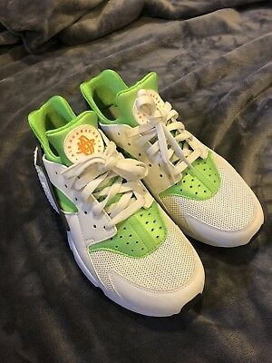 finest selection d8c77 098e9 Nike Air Huarache Run Mens 10.5 White Green Yellow
