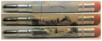 RESTORED by Ragan - Vintage Bullet Pencil - Fort Algonquin - Michigan EF-1187