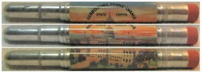 RESTORED by Ragan - Vintage Bullet Pencil - Harrisburg, PA - State CapItol 1190
