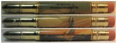 RESTORED by Ragan - Vintage Bullet Pencil - Boston, Massachusetts EF-1197