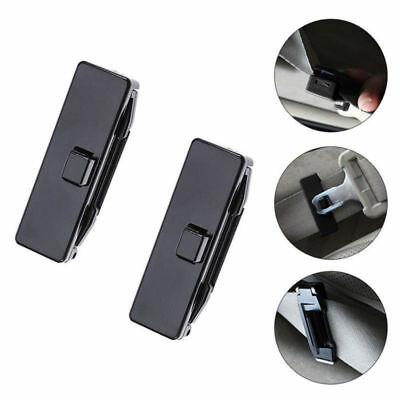 2X New Auto Car Seat Belt Stopper Buckle Improves Comfort Safety Adjuster Clips