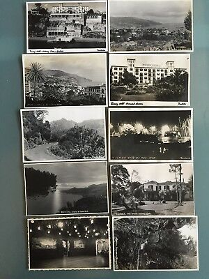 Ten 10 Vintage Rare Postcards Madeira Real Photographic From 1937 Hotel Casino