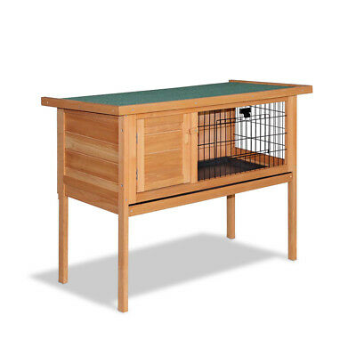 NEW Rabbit Hutch with Hinged Lid Guinea Pig Feeret Coop Chicken Hen Wooden House