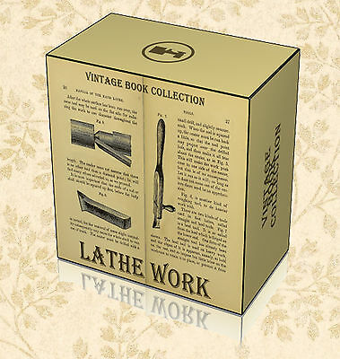 Lathe Work - 100 Rare Books on DVD - Turning Metal Wood Woodworking Carpentry D9