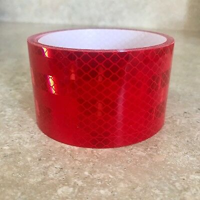 """3M 983-72 Diamond Grade Red Reflective Conspicuity 2"""" Tape - 8'10"""" Length"""